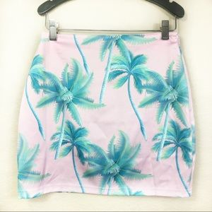 Tobi Palm Trees Print Skirt